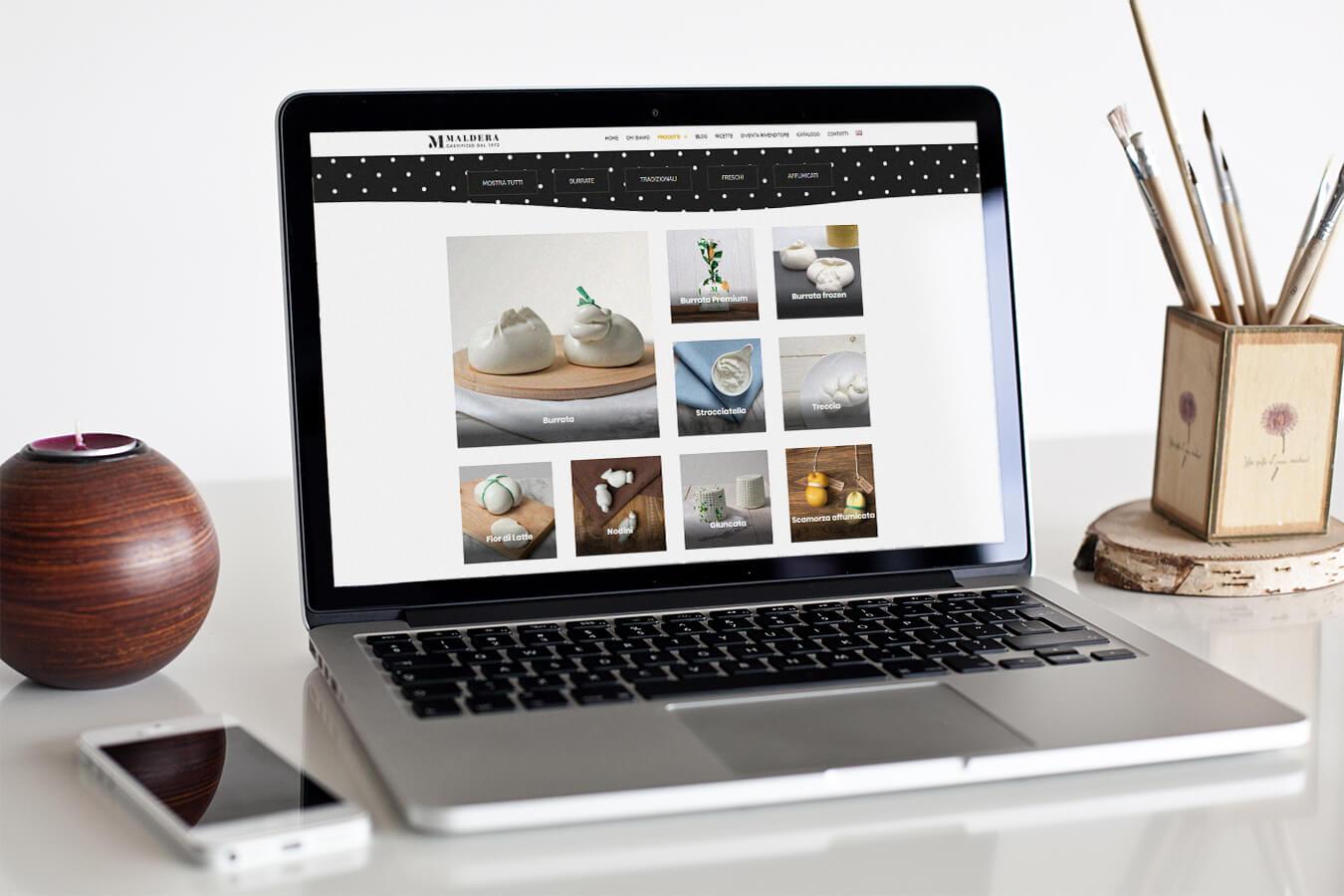 Maldera Sito web desktop