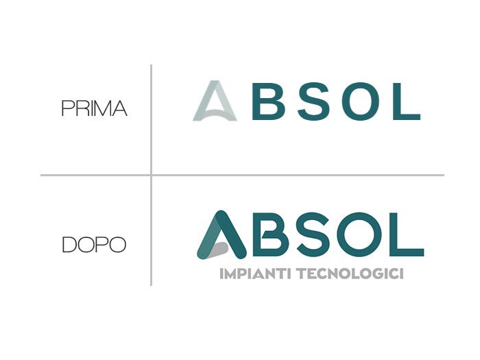 Absol Logo Prima E Dopo