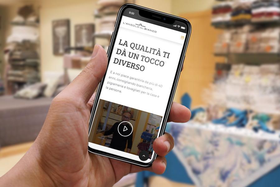 Angolo Del Bianco Sito Web Da Smartphone